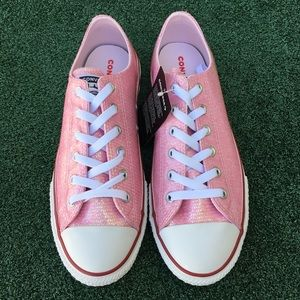 NWT Converse CTAS Glitter Low Top Sneaker Pink 7.5